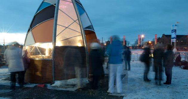 Fine design: Sarah Bonnemaison and Robin Muller's The Warming Hut*