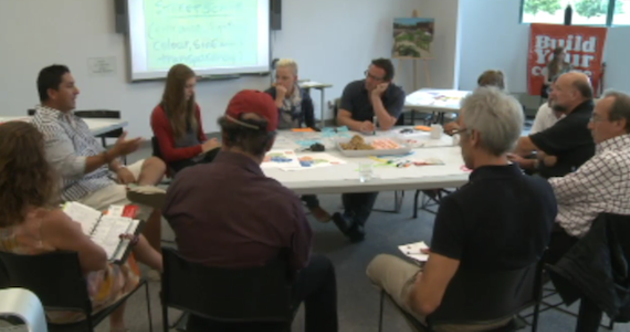 """Five members of """"the public"""" showed up in Stellarton to talk to five consultants."""