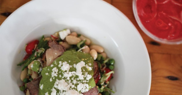 Flank steak and white bean salad done right at TIBS at Nite.