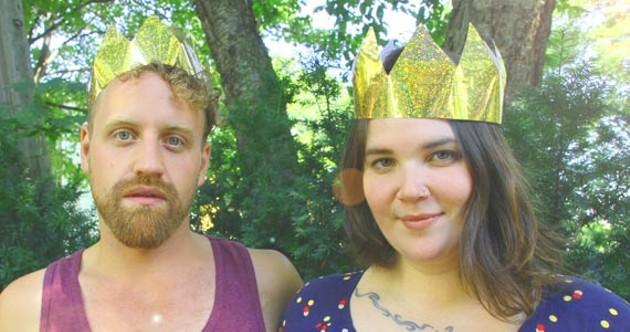 Folk royalty Legere and Harris. - KRISTA DAVIS