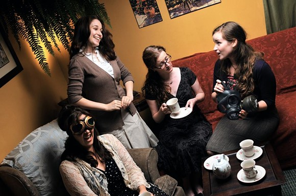 Four chicks on a quest for laughs in Hot Mess - PHOTO: TRINA CORKUM