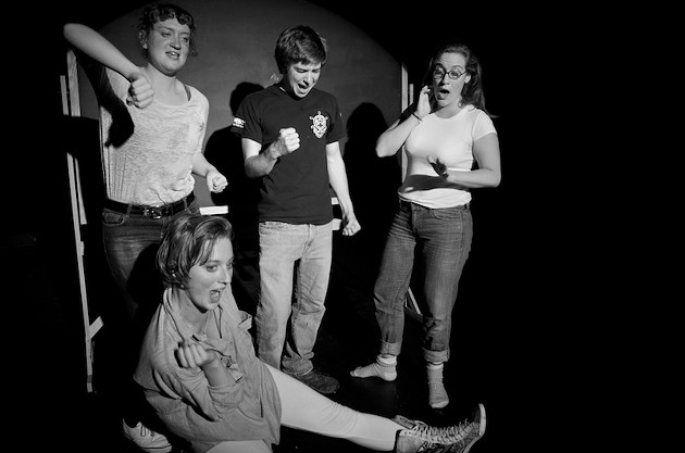 from left to right, sketch performers Ana Matisse Donefer-Hickie, Chloe Sullivan, Griffin McInnes and Liz Johnston. - IAN GIBB