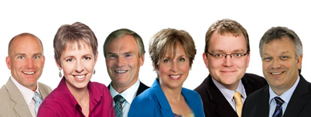 From left to right; Whitman, Watts, Craig, Nicoll, Mason and Adams.