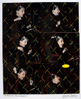 "Gary Castle, ""Remembering Celia Franca"", 24 cm x 30 cm, photos & crayon, collage on board"