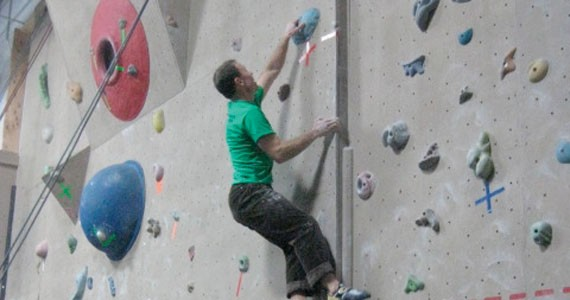 Got the core strength of Gumby? Not a problem at Ground Zero Climbing Gym.