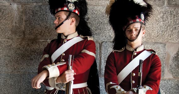 Guards keep watch for ghosts on Citadel Hill. - MEGHAN TANSEY WHITTON