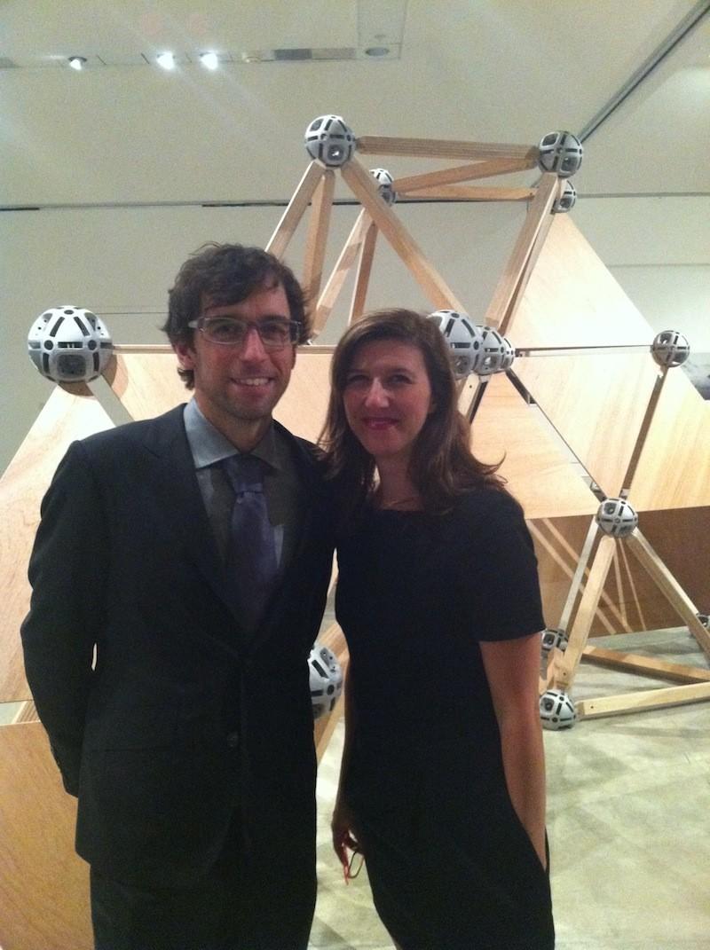 Half of the Sobey Award-winning duo Christian Giroux with curator Sarah Fillmore - ADRIAN LEE