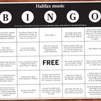 Halifax music bingo