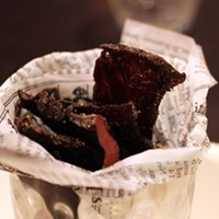 Harbourstone's house-dried, sweet and salty jerky is best in show.