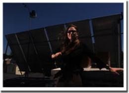 Heat roof EAC staffer Maggy Burns enjoys her new, environmentally conscious, digs. photo Darryl James