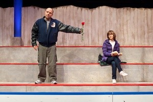 Heather Rankin and Kevin Kincaid star in Neptune's production of Hockey Mom, Hockey Dad