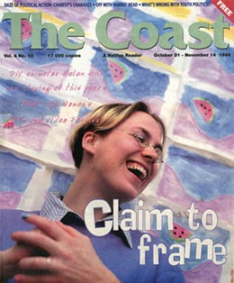 Helen on the cover of The Coast, 1996.
