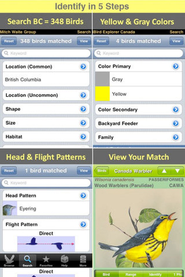 iBird Explorer Canada is one many useful outdoorsy apps.