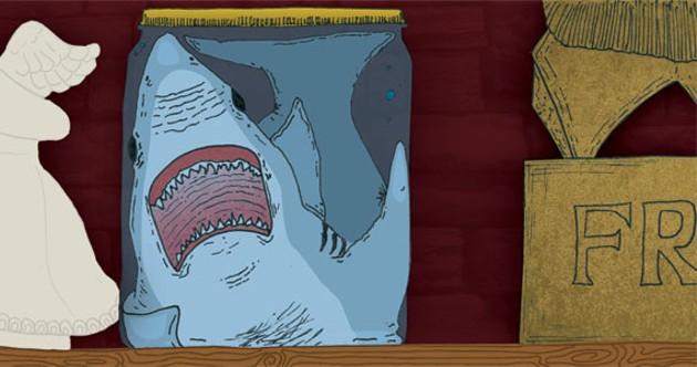 Illustration for Shark in a Jar - MATTHEW MORGAN