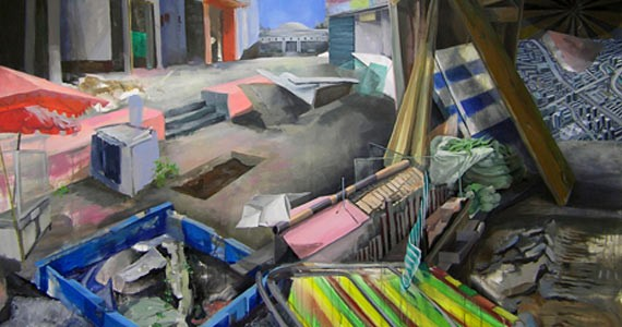 """""""Industrial plaza"""" shows beauty in disarray."""