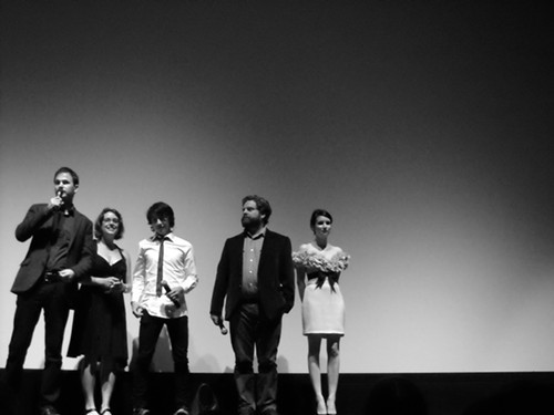 Its A Funny Kind of Story: Directors Ryan Fleck and Anna Boden, stars Keir Gilchrist, Zach Galifinakis and Emma Roberts at the Ryerson Saturday night.