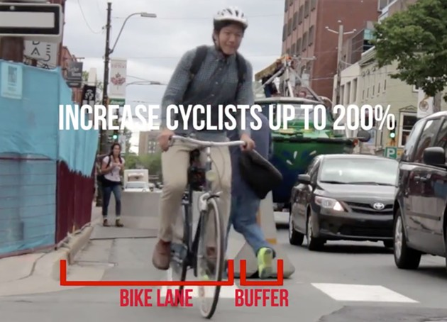 It's simple math other places have already learned: More protected bike lanes = more cyclists - more injuries.