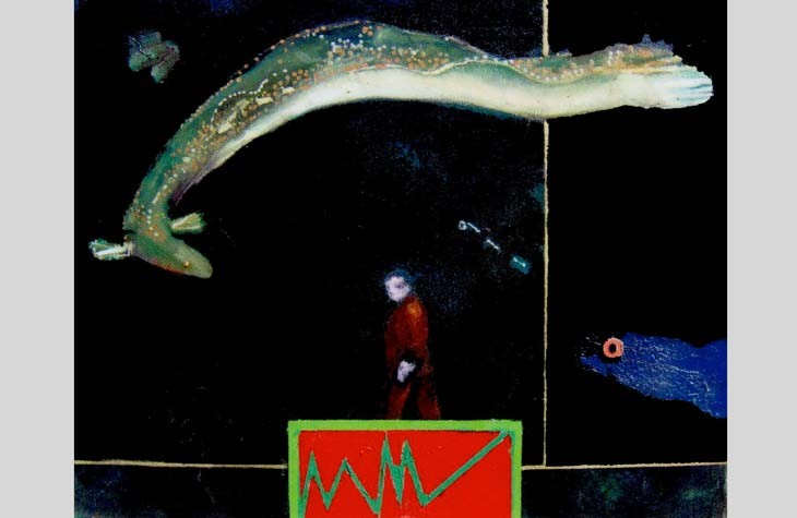 James G. Davis' The Electric Eel is one of the pieces on display