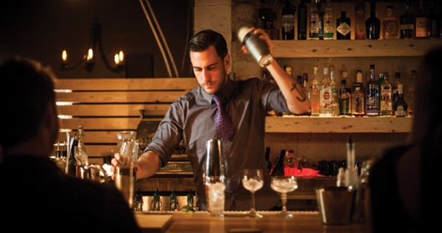 Jenner Cormier shakes up the bar scene downtown. - RILEY SMITH