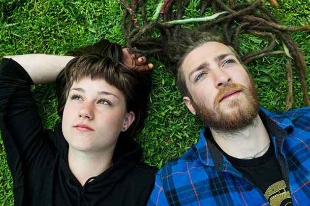 Jillian Moran and Aaron Beck rest up before their big summer trip. - LENNY MULLINS