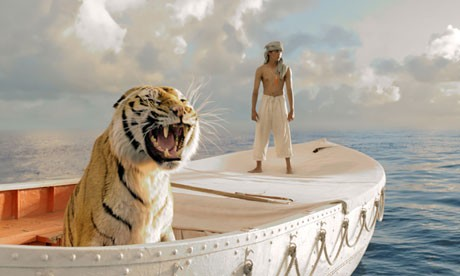 Just another day on the open sea in Life of Pi