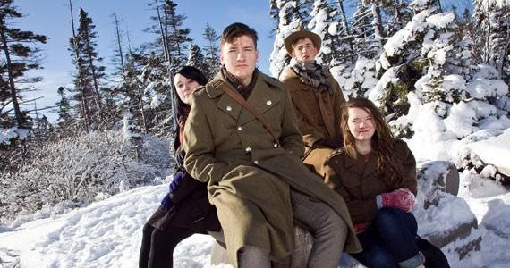 Kristen Wells, Willie Stratton, Magnus von Tiesenhausen and Grace Stratton chilling out. - SCOTT BLACKBURN