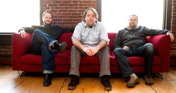 L-R: Creative director James Rothenburg, CEO Andrew Wilson and senior project manager Kieran Gillett. - ANGELA GZOWSKI