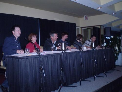 L-R: Josh MacDonald, Sherry Smith, Don Ritchie, Michael McPhee, Sara English and Scott Simpson