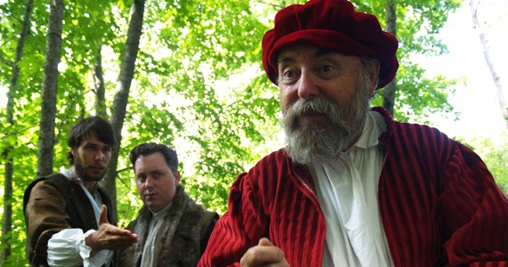 L to R: Actors Ben Irvine, Simon Rainville and Paul Rainville play in the park - JESSE MACLEAN