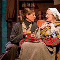 Laura de Cateret and Mary-Clin Chisholm in The Beauty Queen of Leenane.