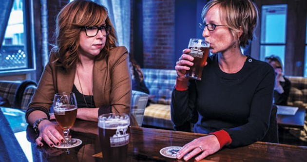 LBL drinking buddies Pam Crouse and Tracy Phillippi. - RILEY SMITH