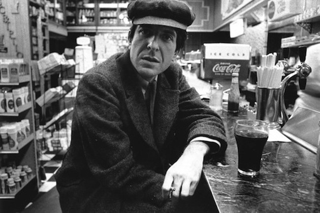Leonard Cohen sort of looks like he's accusing you of something here. Maybe of stealing his heart?