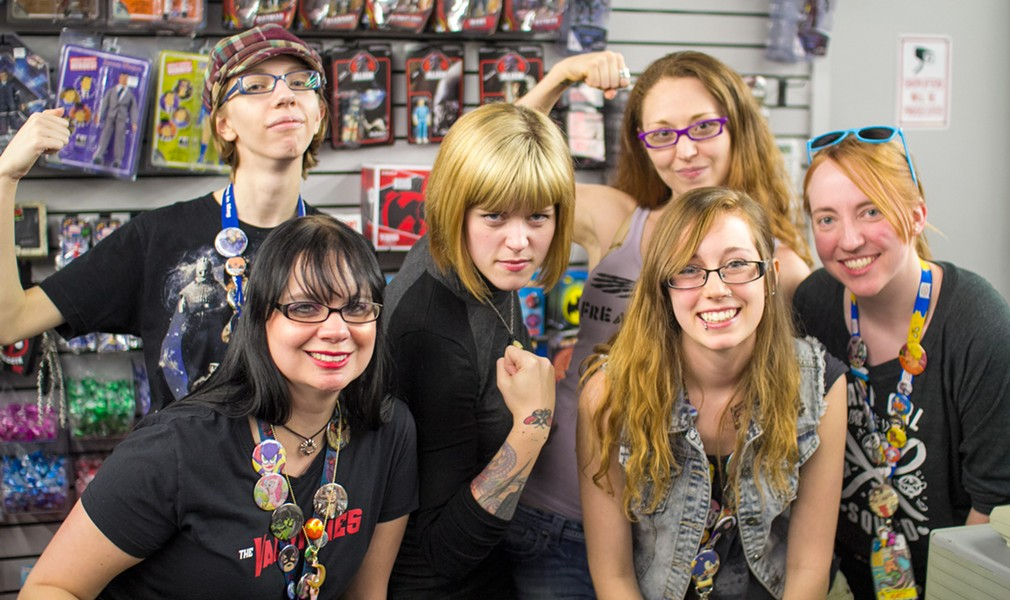 Leth and Valkyries at Austin Books and Comics