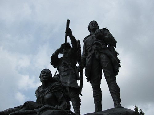 Lewis, Clark and Sacajawea