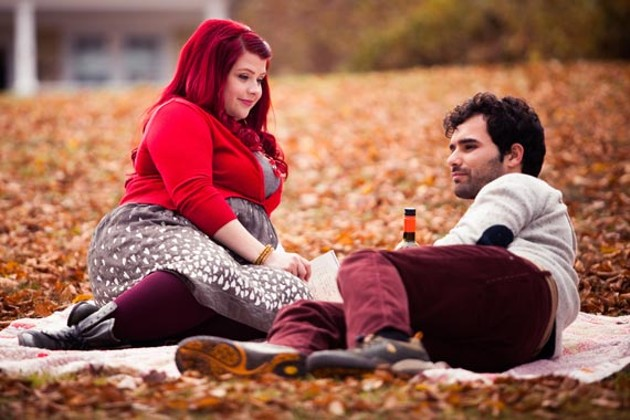 Lexie (Melissa Bergland) and Adrian (Johnathan Sousa) drink local during a crisp Nova Scotia autumn. - DUNCAN DEYOUNG