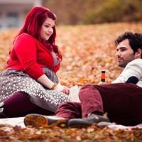 Lexie (Melissa Bergland) and Adrian (Johnathan Sousa) drink local during a crisp Nova Scotia autumn.