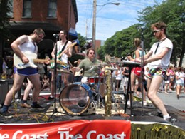 Local band Windom Earle rocks The Coast's float during the 2010 Halifax Pride Parade