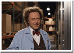 Mad man Walken Christopher Walken and the mad science of bowties in Click.