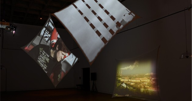 Marnina and Noam Gonick, Voices in Longitude and Latitude, installation view 2014. - STEVE FARMER