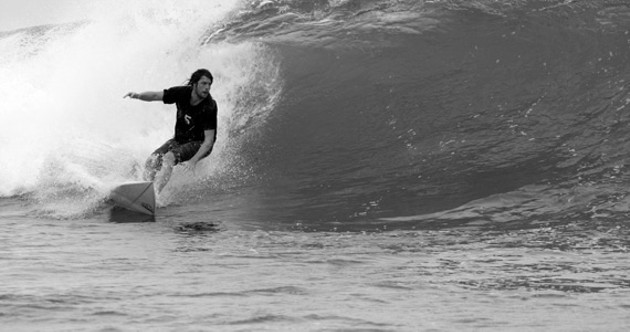 Matt Mays trades his guitar for a surfboard.