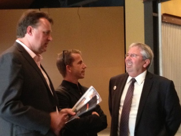 Mayoral candidates Mike Savage, Fred Connors and Tom Martin.