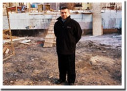 Molto bene Roberto Sani on the site of the soon-to-be new Italian Cultural Centre.photo Rob Fournier