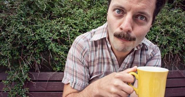 Musical mustachio, Mark Bragg.
