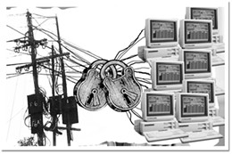 """Net effect  Should internet users who """"eat up"""" bandwidth pay as they go?                     illustrator Moon Hee Nam"""