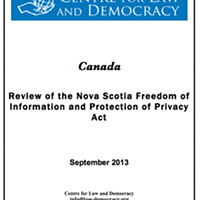 New report slams Nova Scotia's Freedom of Information act