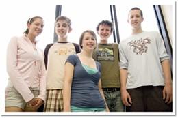 New school Sarah Tremaine, Erik Fraser, Clarke Barnes, Jonathan Carroll, Tomas Doolittle.photo Rob Fournier
