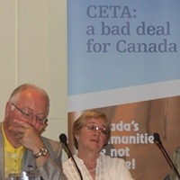 Paul Moist, Maude Barlow at Halifax meeting Tuesday