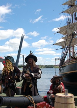 Pirates of the Caribbean on the boardwalk.