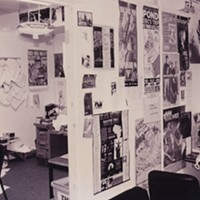 Postered up at The Coast office circa '94.