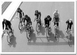Ramblin' gang. Halifax Schronized Bike Team roll along in The Ramblers. Photo Jule Malet-Veale.